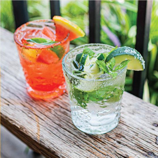 Margaritas outside