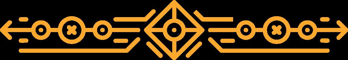 Yellow tribal design element